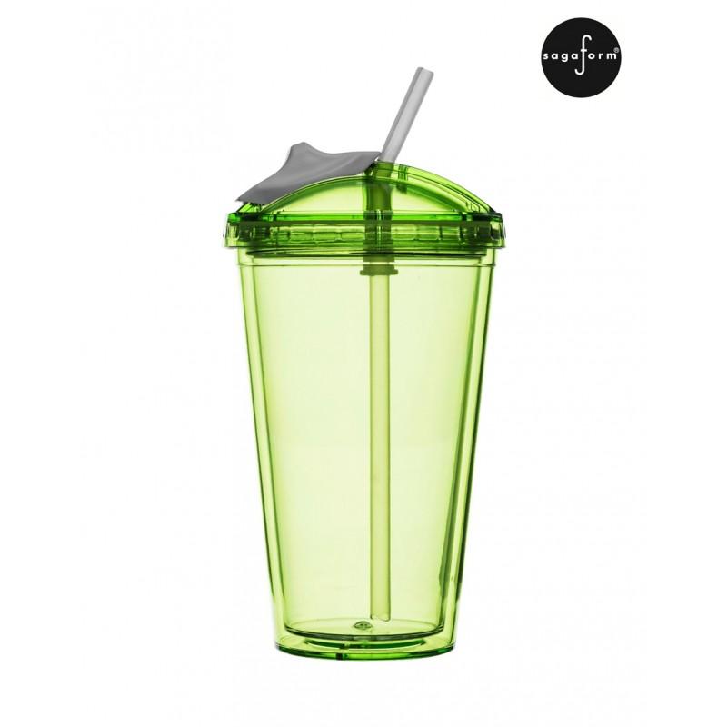 hrnek s brčkem sagaform fresh smoothie mug 450ml zelen 253