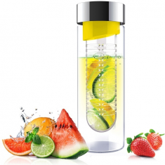 ASOBU skleněná láhev s infuserem FLAVOUR IT yellow&silver 480ml
